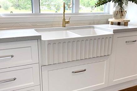 sinks and tapware at gubbins mitre 10